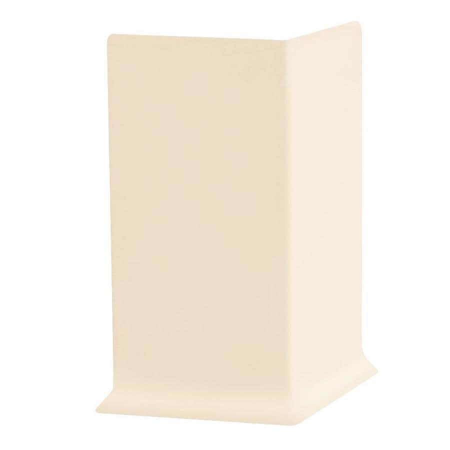 FLEXCO 30-Pack 2.5-in W x 0.25-ft L Almond Thermoplastic Rubber Outside Corner Wall Base