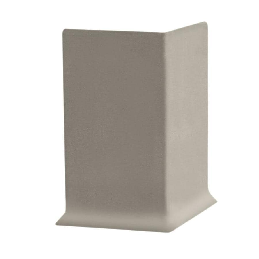 FLEXCO 30-Pack 2.5-in W x 0.25-ft L Stone Thermoplastic Rubber Outside Corner Wall Base
