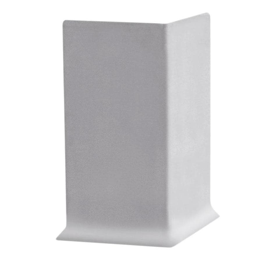 FLEXCO 30-Pack 2.5-in W x 0.25-ft L Light Gray Thermoplastic Rubber Outside Corner Wall Base