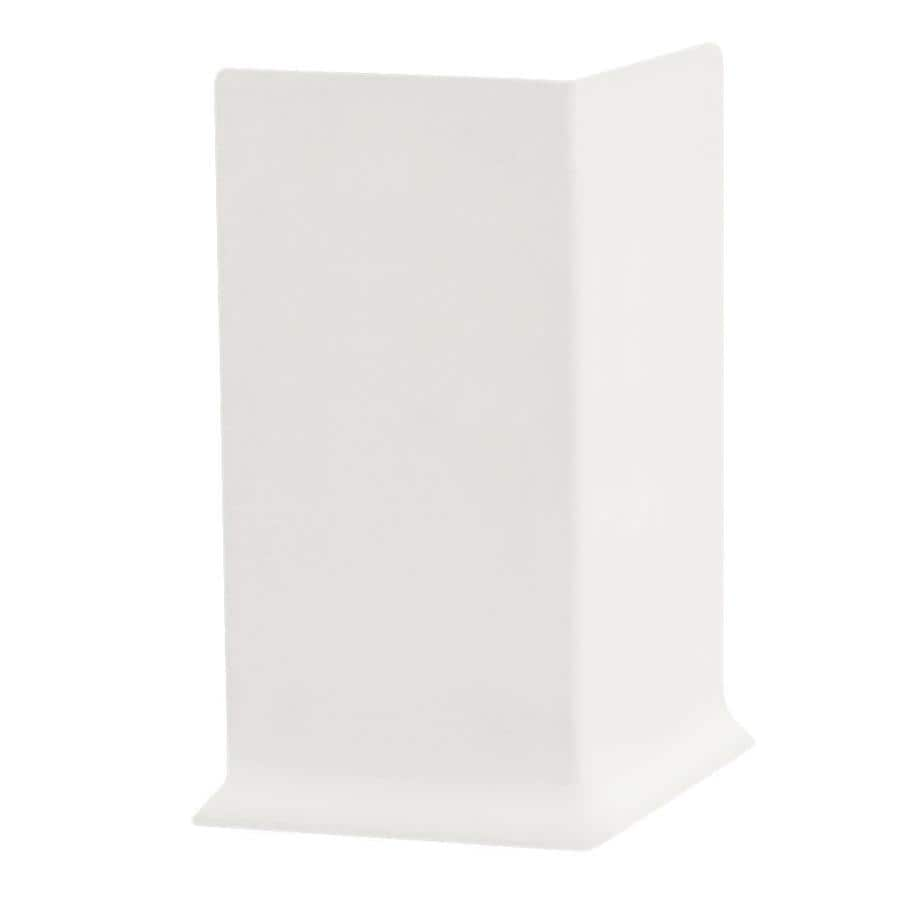 FLEXCO 30-Pack 2.5-in W x 0.25-ft L Arctic White Thermoplastic Rubber Outside Corner Wall Base
