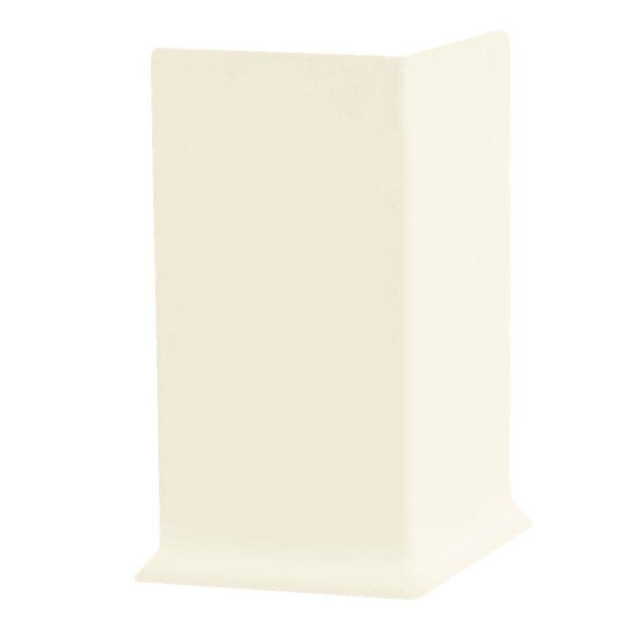 FLEXCO 30-Pack 4-in W x 0.25-ft L Baby Breath Thermoplastic Rubber Outside Corner Wall Base