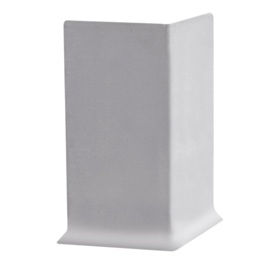 FLEXCO 30-Pack 4-in W x 0.25-ft L Light Gray Thermoplastic Rubber Outside Corner Wall Base