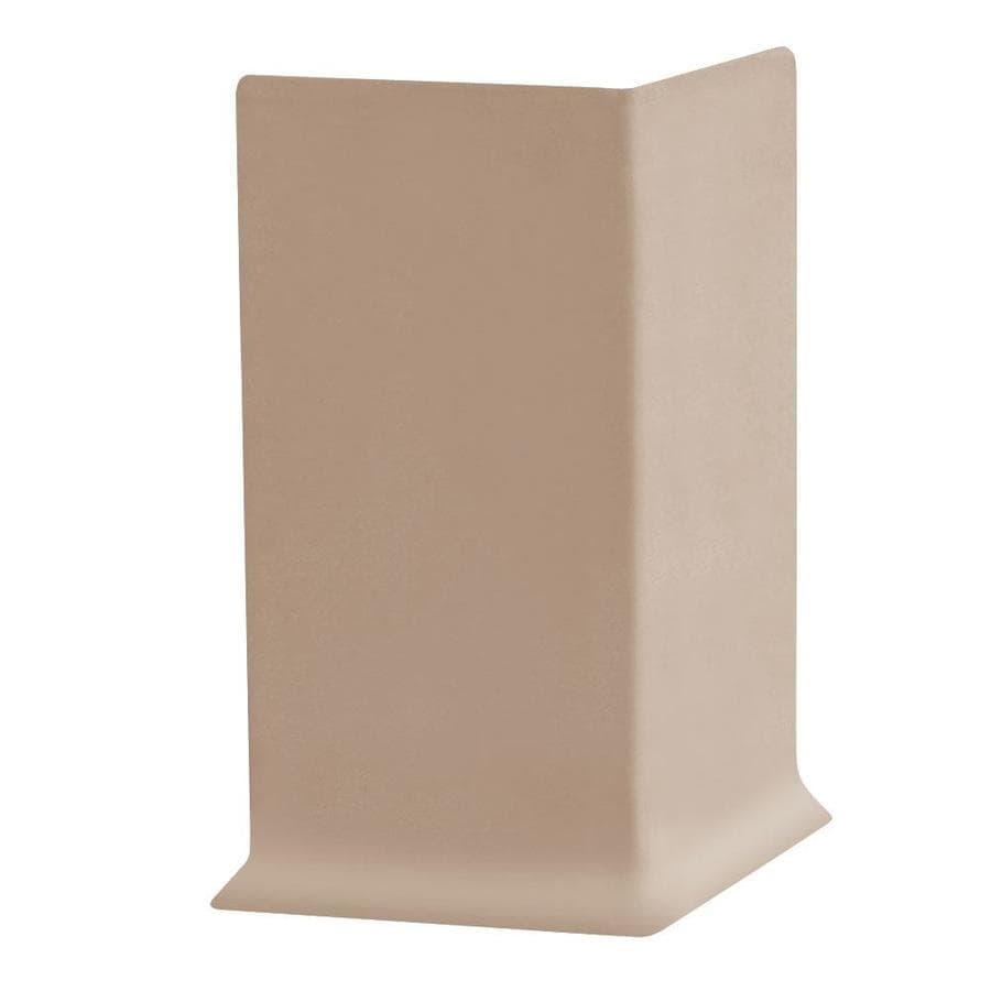FLEXCO 30-Pack 4-in W x 0.25-ft L Dune Thermoplastic Rubber Outside Corner Wall Base
