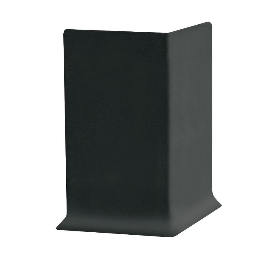 FLEXCO 30-Pack 6-in W x 0.25-ft L Black Dahlia Thermoplastic Rubber Outside Corner Wall Base
