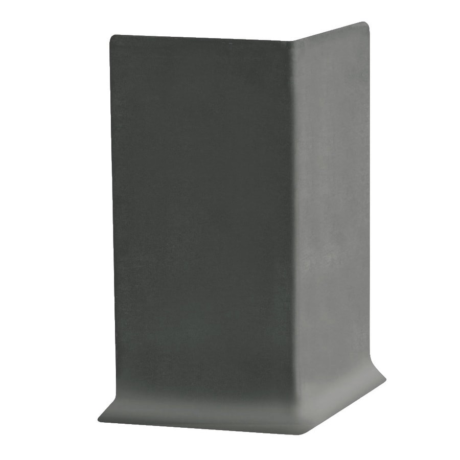FLEXCO 30-Pack 6-in W x 0.25-ft L Charcoal Thermoplastic Rubber Outside Corner Wall Base