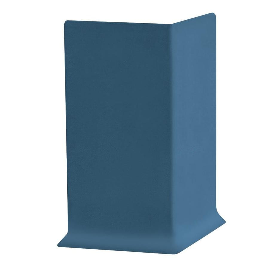 FLEXCO 30-Pack 6-in W x 0.25-ft L Blue Thermoplastic Rubber Outside Corner Wall Base