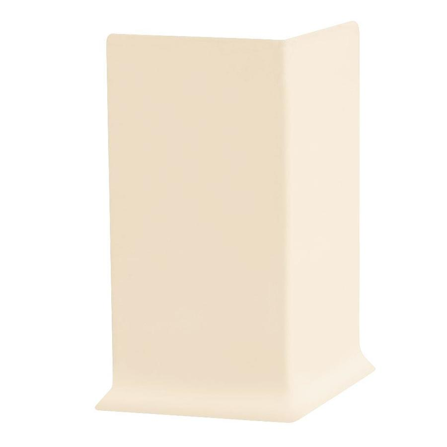 FLEXCO 30-Pack 6-in W x 0.25-ft L Almond Thermoplastic Rubber Outside Corner Wall Base