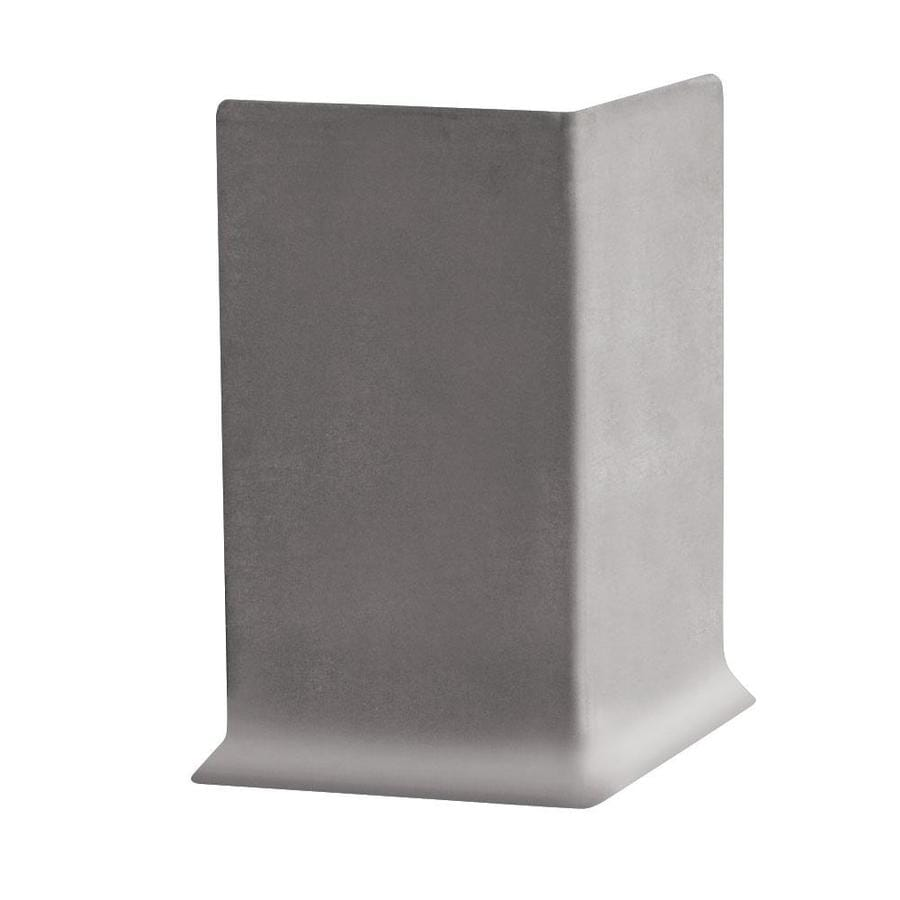 FLEXCO 30-Pack 6-in W x 0.25-ft L Pebble Thermoplastic Rubber Outside Corner Wall Base