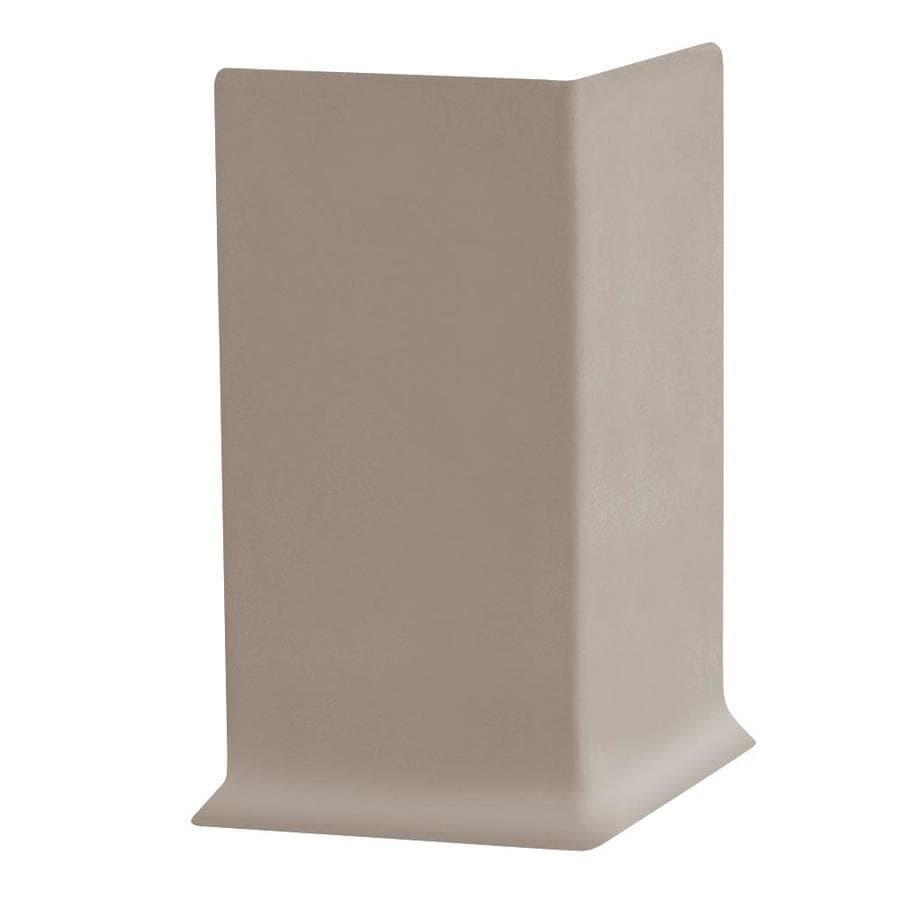 FLEXCO 30-Pack 6-in W x 0.25-ft L Dark Beige Thermoplastic Rubber Outside Corner Wall Base