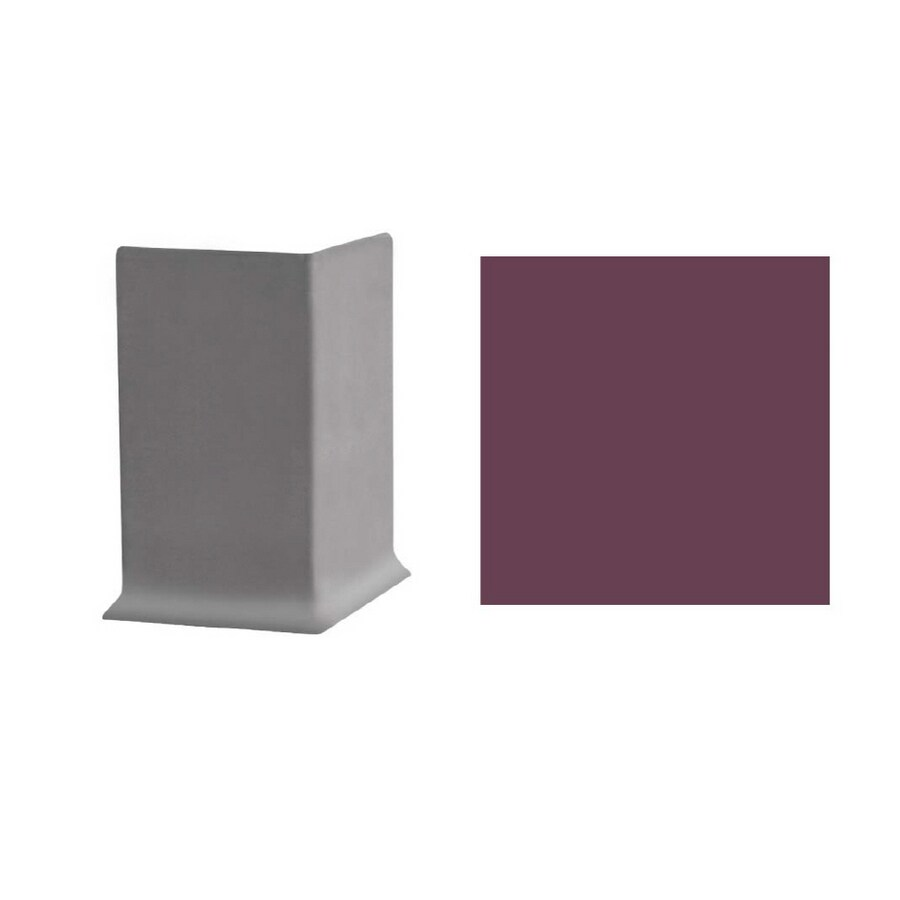 FLEXCO 30-Pack 6-in W x 3-in L Plum Pudding Outside Corner Vinyl Wall Base