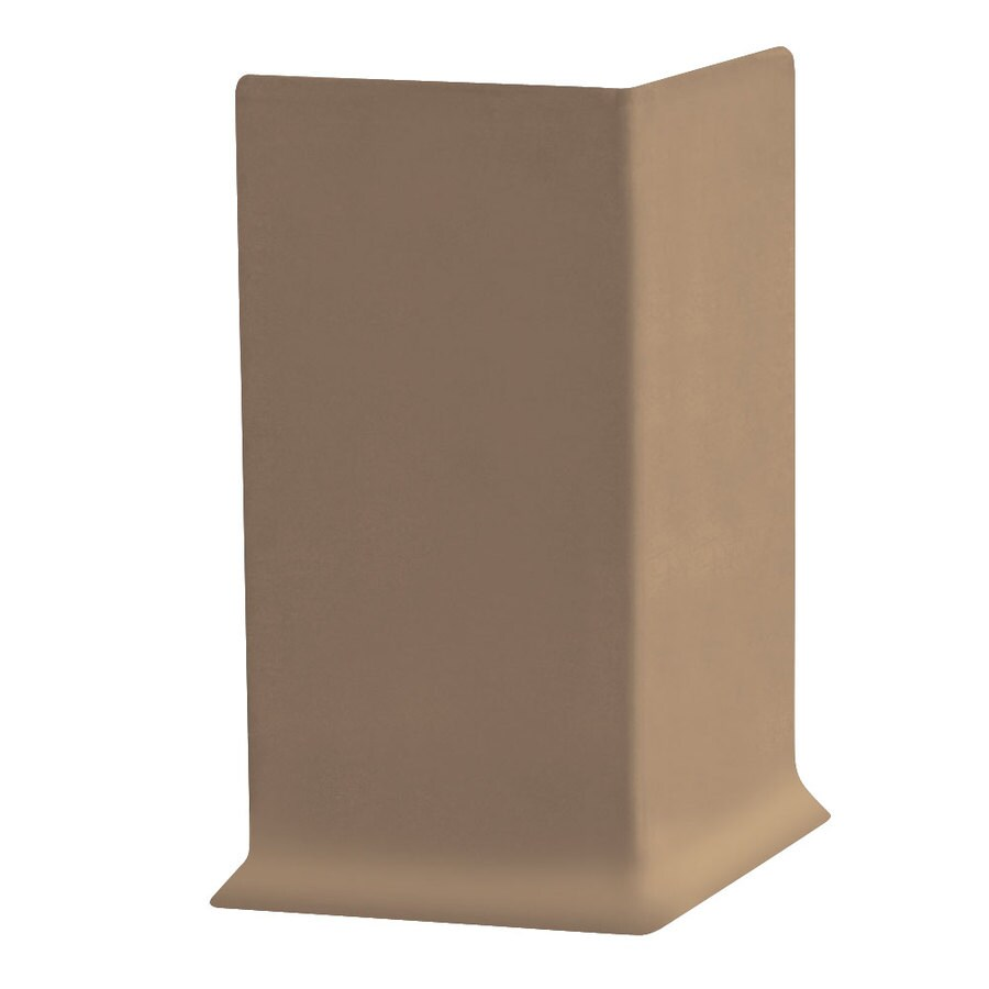 FLEXCO 30-Pack 6-in W x 0.25-ft L Cappuccino Thermoplastic Rubber Outside Corner Wall Base