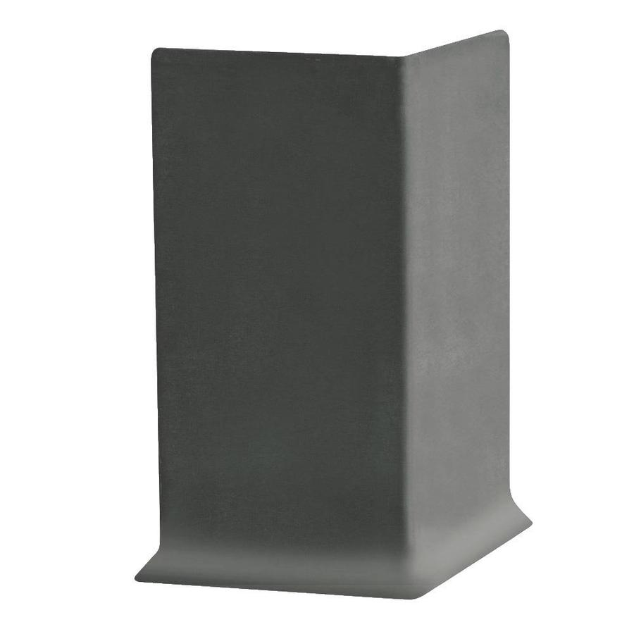 FLEXCO 4-in H x .125-in W x 0.25-ft L Charcoal Rubber Wall Base Outside Corner (30-pack)