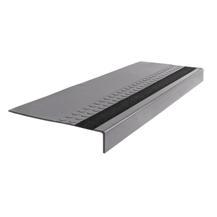 FLEXCO 12-in x 54-in Gray Vinyl Square Nose Stair Treads