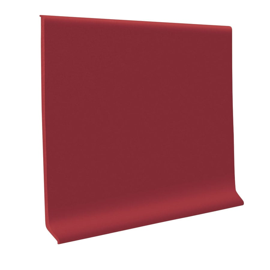 FLEXCO 30-Pack 4-in W x 4-ft L Red Rock Thermoplastic Rubber Wall Base