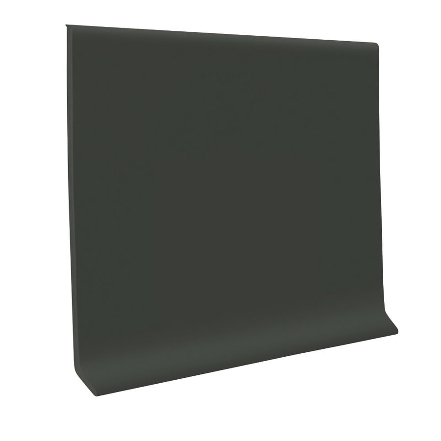 FLEXCO 30-Pack 4-in W x 4-ft L Black Brown Vinyl Wall Base