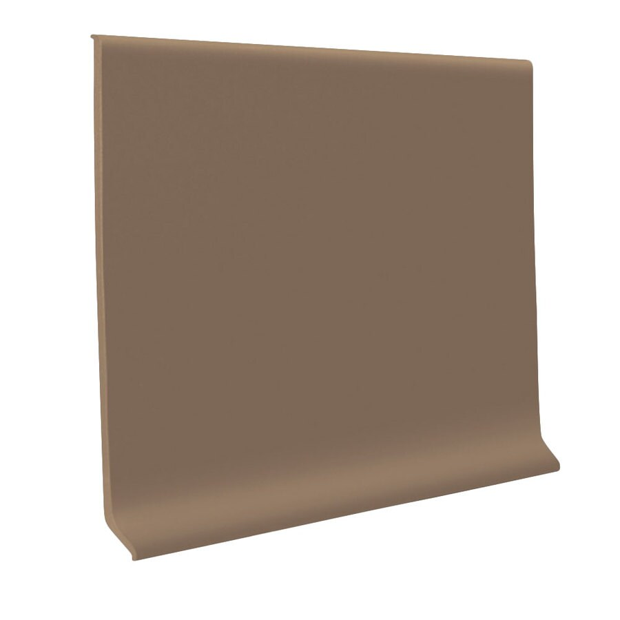 FLEXCO 30-Pack 6-in W x 4-ft L Milk Chocolate Vinyl Wall Base
