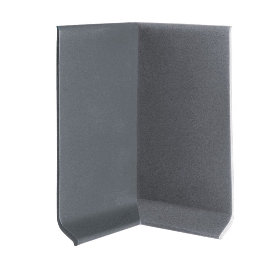 FLEXCO 30-Pack 2.5-in W x 0.25-ft L Charcoal Vinyl Inside Corner Wall Base