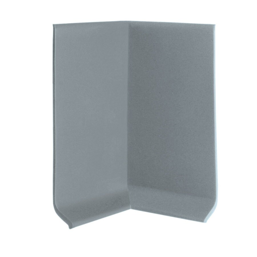 FLEXCO 30-Pack 2.5-in W x 0.25-ft L Medium Gray Vinyl Inside Corner Wall Base