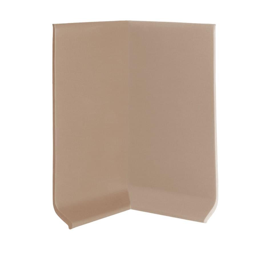 FLEXCO 30-Pack 2.5-in W x 0.25-ft L Dune Vinyl Inside Corner Wall Base