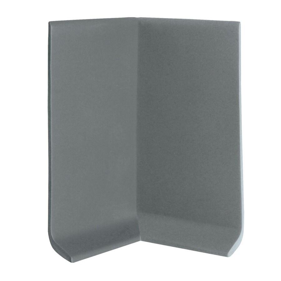 FLEXCO 30-Pack 2.5-in W x 0.25-ft L Charcoal Vinyl Inside Corner Wall Base