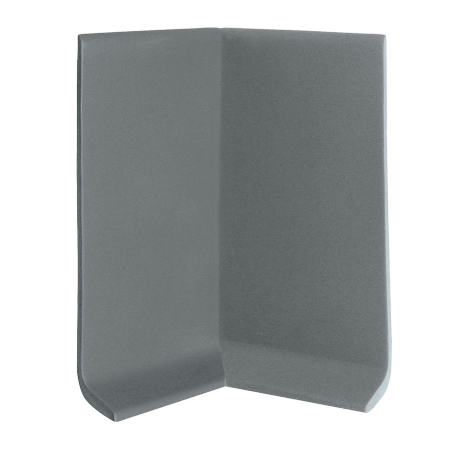 FLEXCO 30-Pack 4-in W x 0.25-ft L Charcoal Vinyl Inside Corner Wall Base