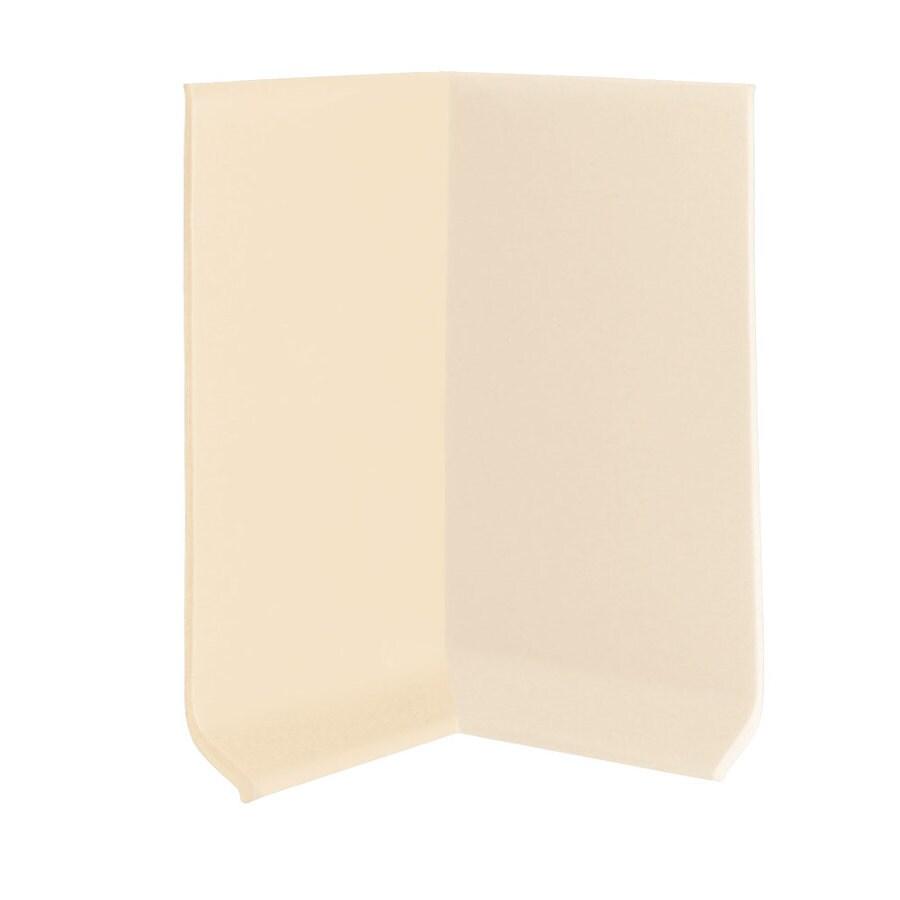 FLEXCO 30-Pack 4-in W x 0.25-ft L Almond Vinyl Inside Corner Wall Base