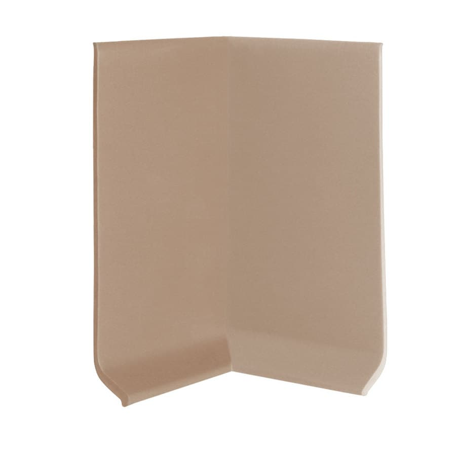FLEXCO 30-Pack 4-in W x 0.25-ft L Dune Vinyl Inside Corner Wall Base