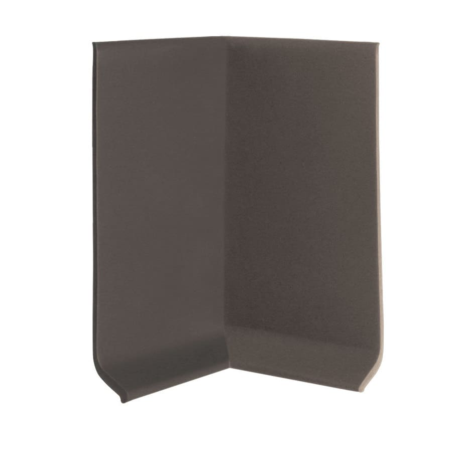 FLEXCO 30-Pack 4-in W x 0.25-ft L Chocolate Vinyl Inside Corner Wall Base