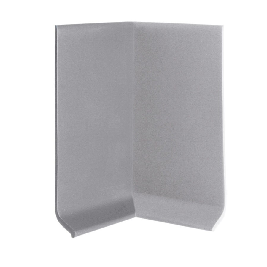 FLEXCO 30-Pack 4-in W x 0.25-ft L Gray Vinyl Inside Corner Wall Base