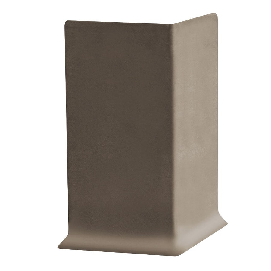 FLEXCO 30-Pack 4-in W x 0.25-ft L Bark Vinyl Outside Corner Wall Base