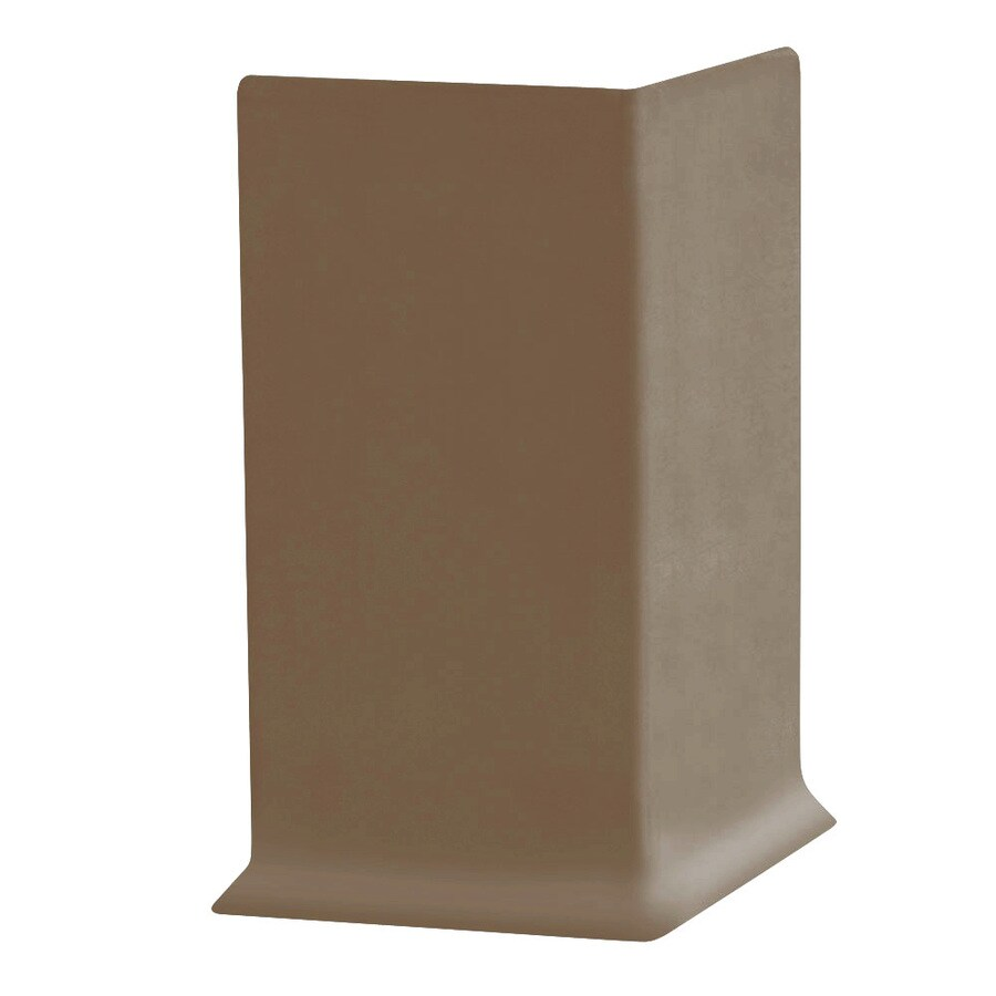 FLEXCO 30-Pack 4-in W x 0.25-ft L Ginger Vinyl Outside Corner Wall Base