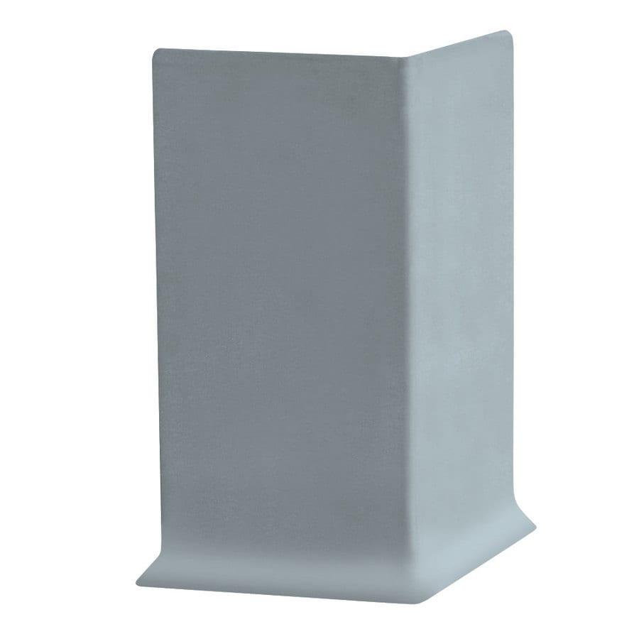 FLEXCO 30-Pack 4-in W x 0.25-ft L Blue Shadow Vinyl Outside Corner Wall Base