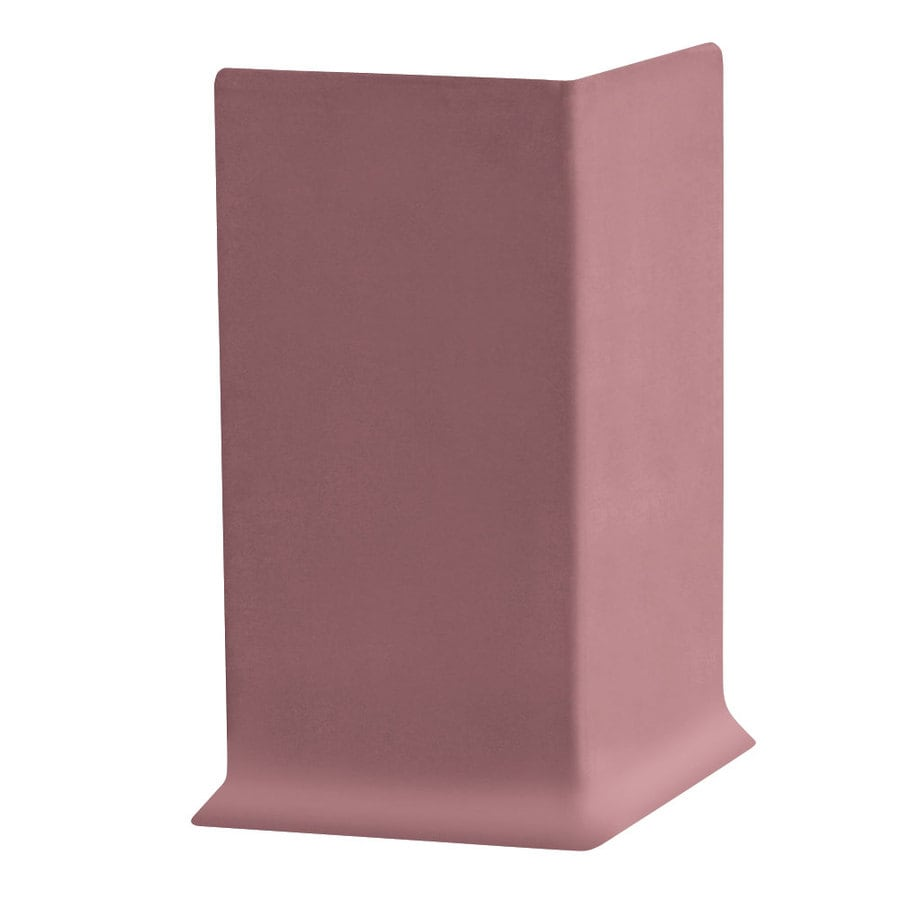 FLEXCO 30-Pack 4-in W x 0.25-ft L Plum Pudding Vinyl Outside Corner Wall Base