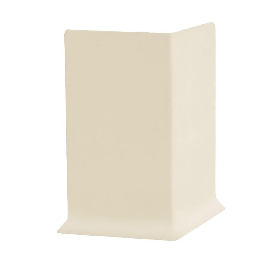 FLEXCO 30-Pack 4-in W x 0.25-ft L Meridian Bone Vinyl Outside Corner Wall Base