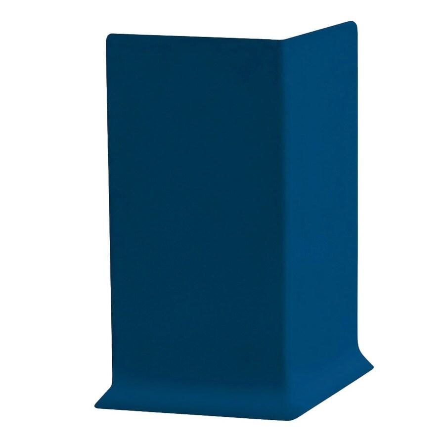 FLEXCO 30-Pack 4-in W x 0.25-ft L Midnight Blue Vinyl Outside Corner Wall Base
