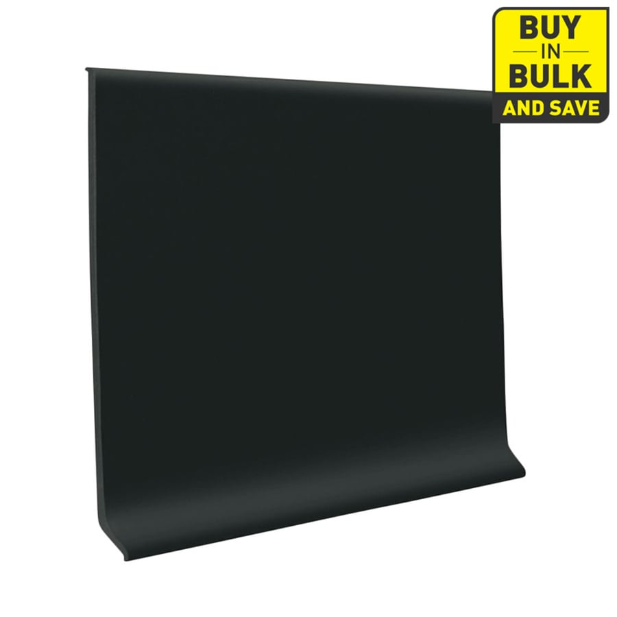FLEXCO 4-in W x 120-ft L Black Dahlia Thermoplastic Rubber Standard Wall Base