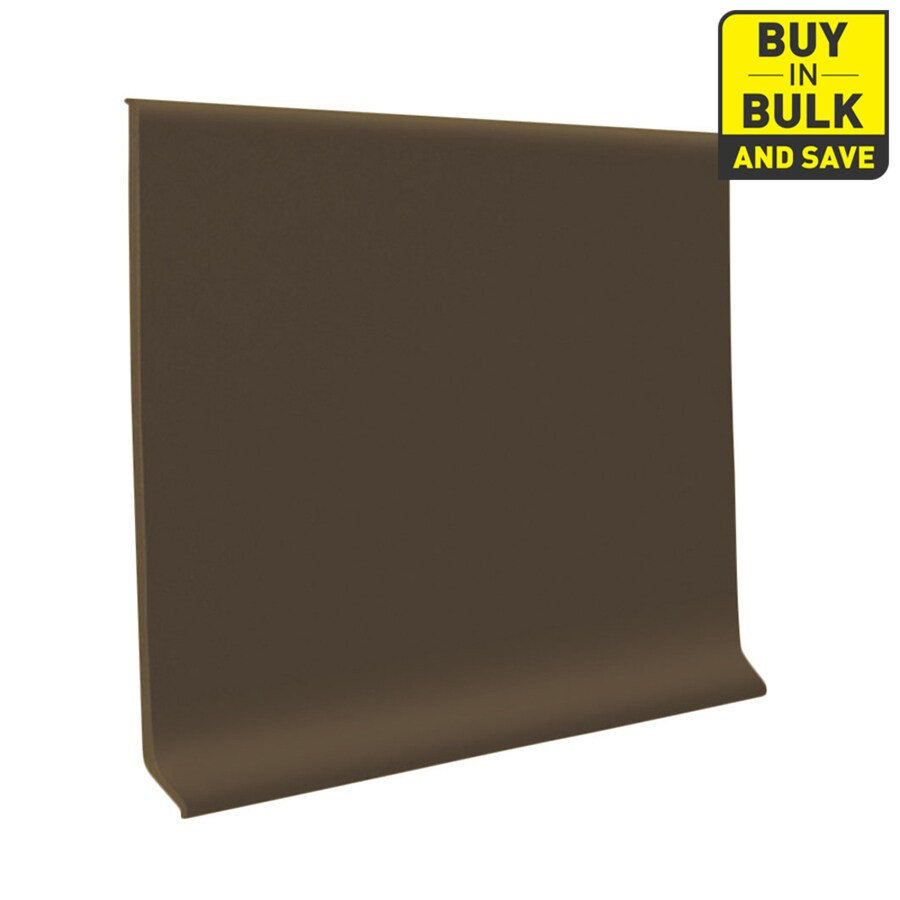 FLEXCO 4-in W x 120-ft L Chocolate Thermoplastic Rubber Standard Wall Base