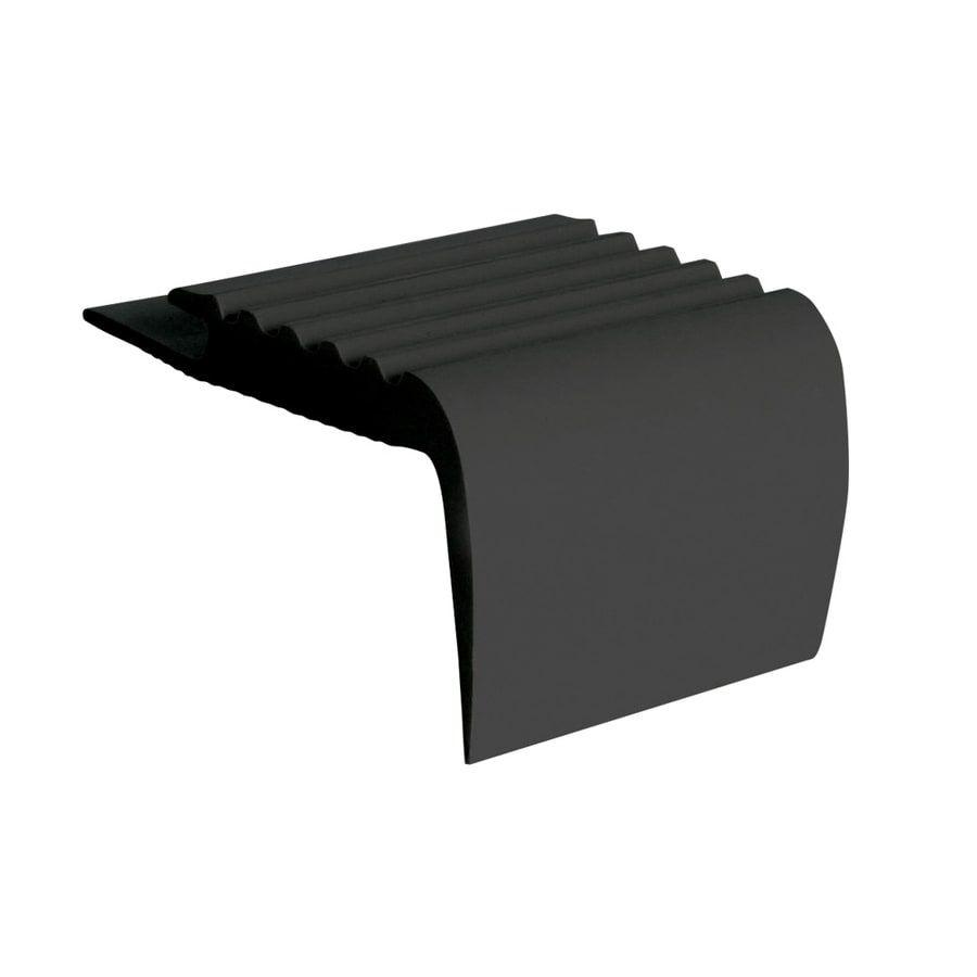 FLEXCO Stair Nose 2-in x 144-in Black Dahlia Vinyl Stair Nosing