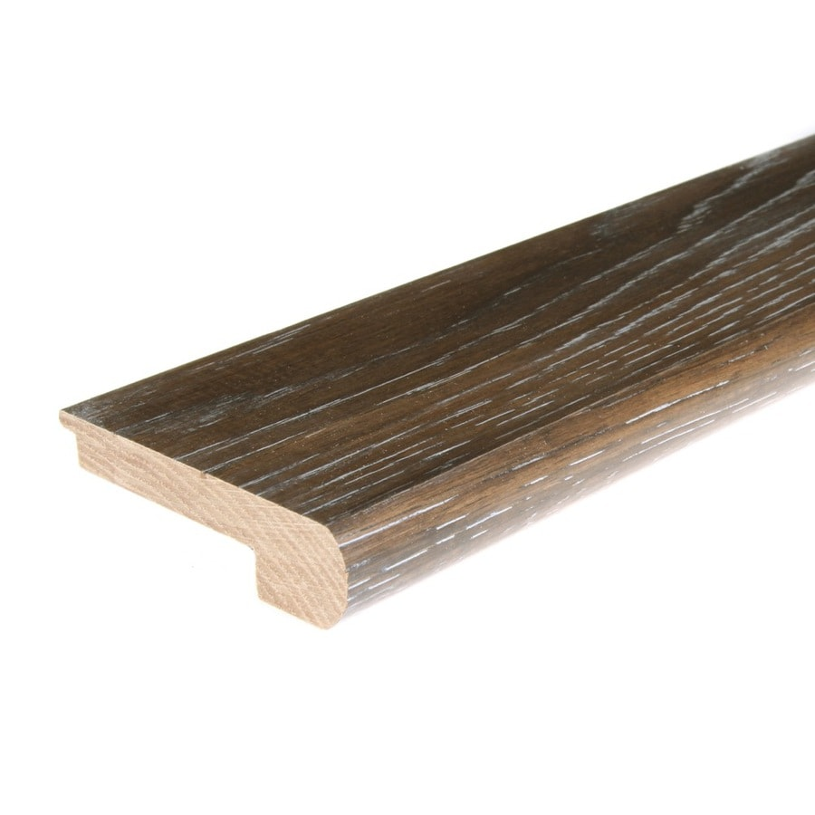FLEXCO 2.75-in x 78-in Iron Grove Hickory Stair Nose Floor Moulding