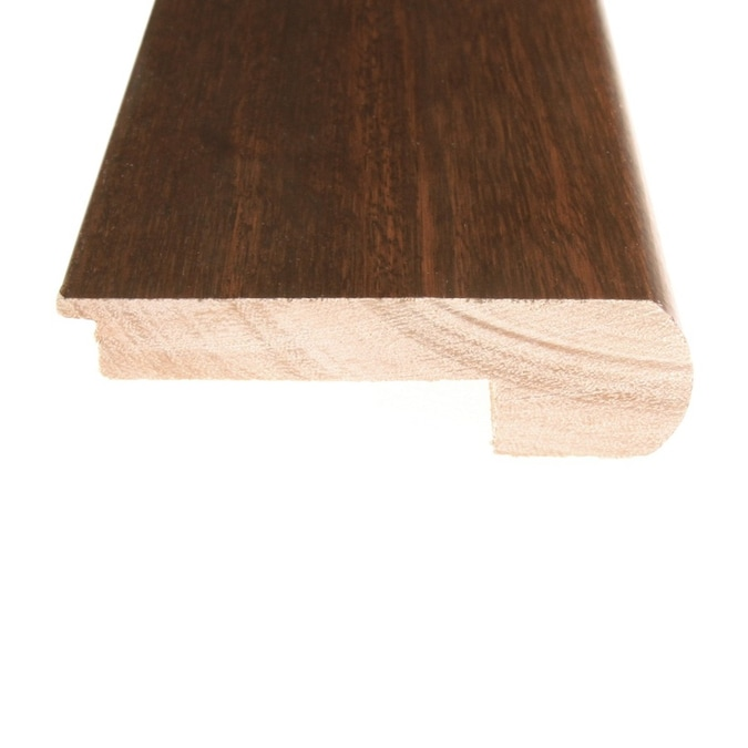 Flexco Solid Wood Stair Nose 2 75 In X 78 In Dark Amber Chestnut Prefinished Stair Nosing In The Stair Nosing Department At Lowes Com