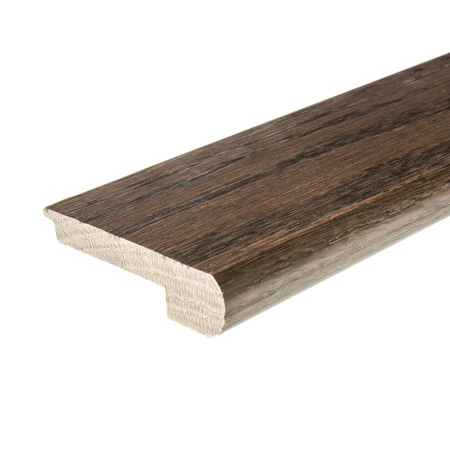 FLEXCO 2.75 In X 78 In Chocolate Oak Stair Nose Floor Moulding