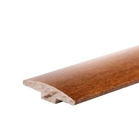 Flexco 2 In X 78 In Gunstock Solid Wood Floor T Moulding In The Floor Moulding Trim Department At Lowes Com