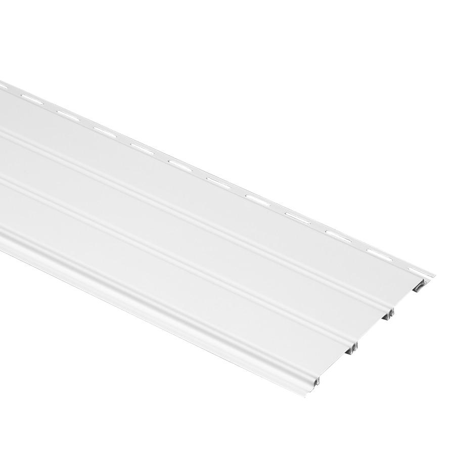 Durabuilt 7.86-in x 148-in White Traditional Vinyl Siding Panel
