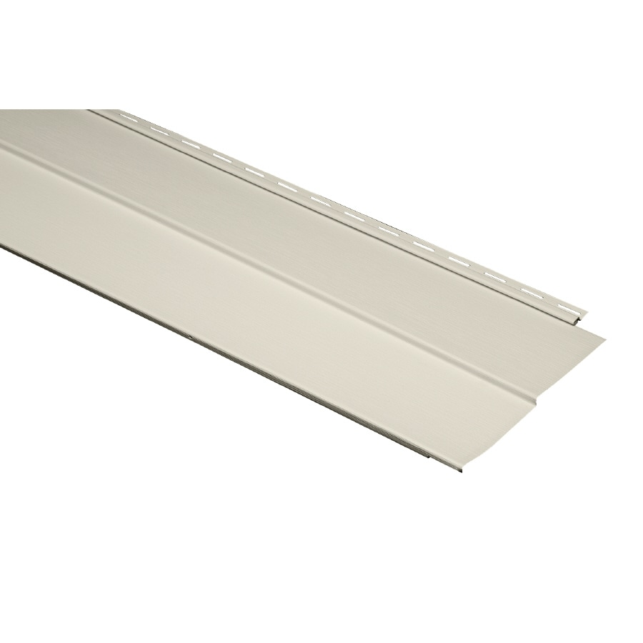 Durabuilt Traditional Ivory Vinyl Siding Panel 11.23-in x 144-in