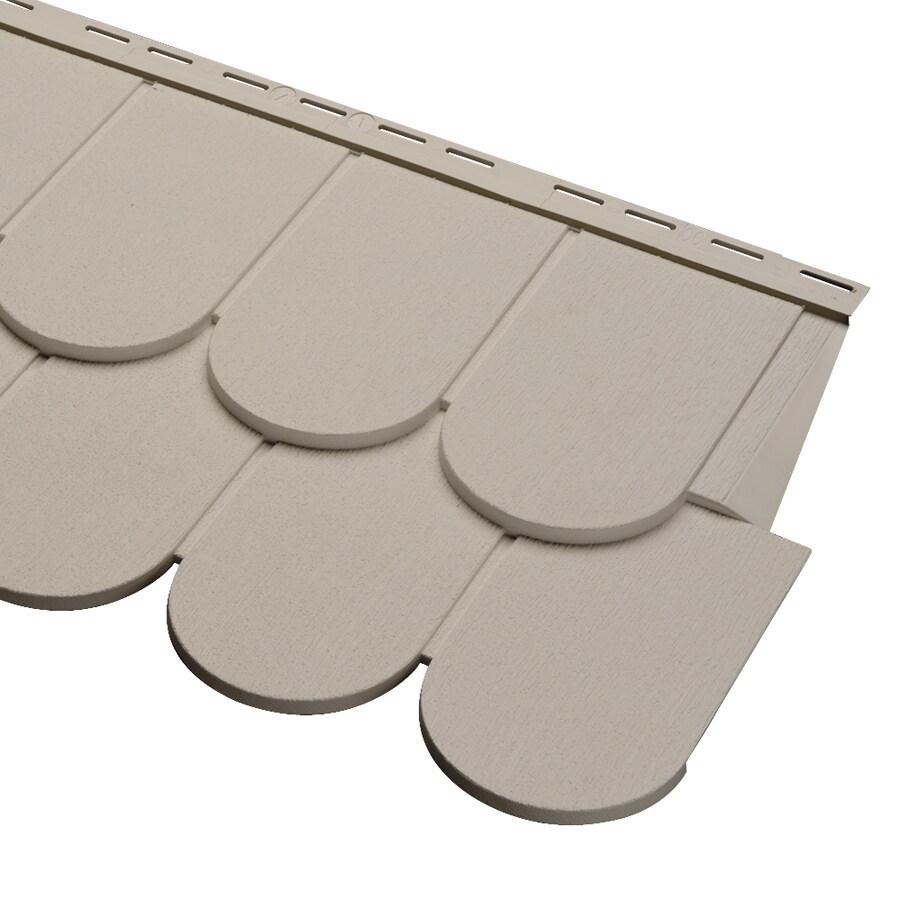 Durabuilt 12-Pack Scallop Woodgrain Vinyl Siding Panels 16.375-in x 51.75-in
