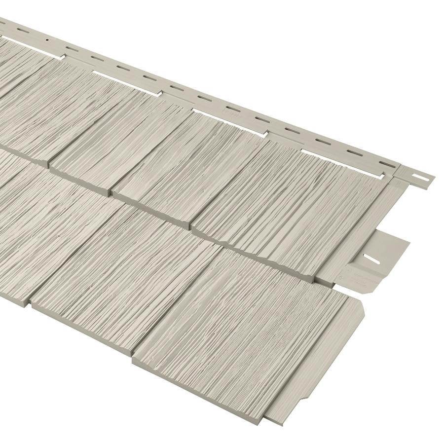 Durabuilt Shake Woodgrain Almond Vinyl Siding Panel 20.375-in x 58.125-in