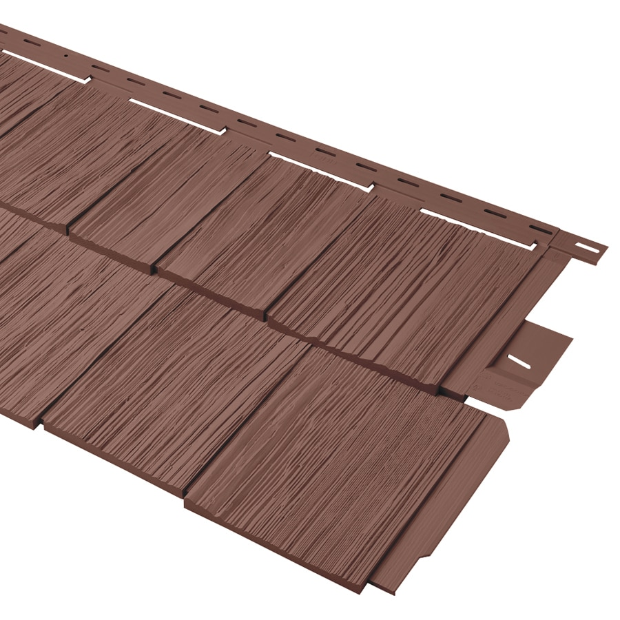 Durabuilt Shake Woodgrain Red Vinyl Siding Panel 20.375-in x 58.125-in
