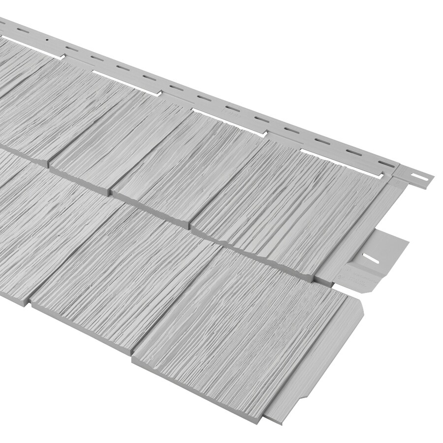 Durabuilt Shake Woodgrain Gray Vinyl Siding Panel 20.375-in x 58.125-in