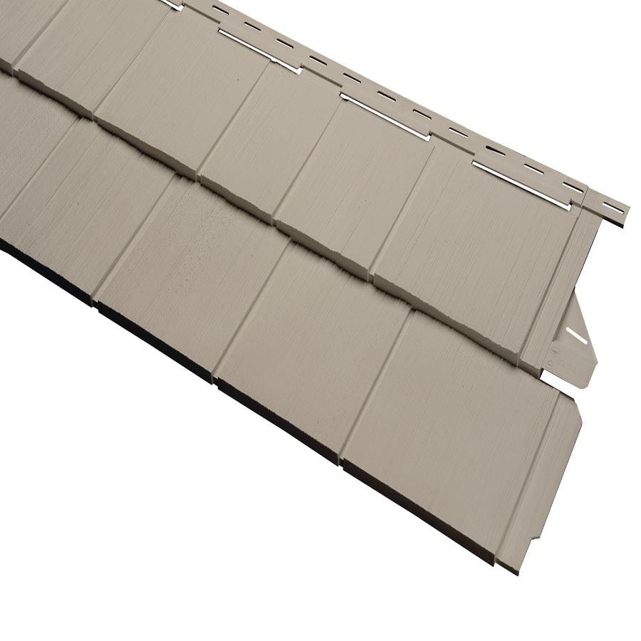 Durabuilt 650 Vinyl Siding Panel Shake Woodgrain/Clay 54.25-in x 15.5-in