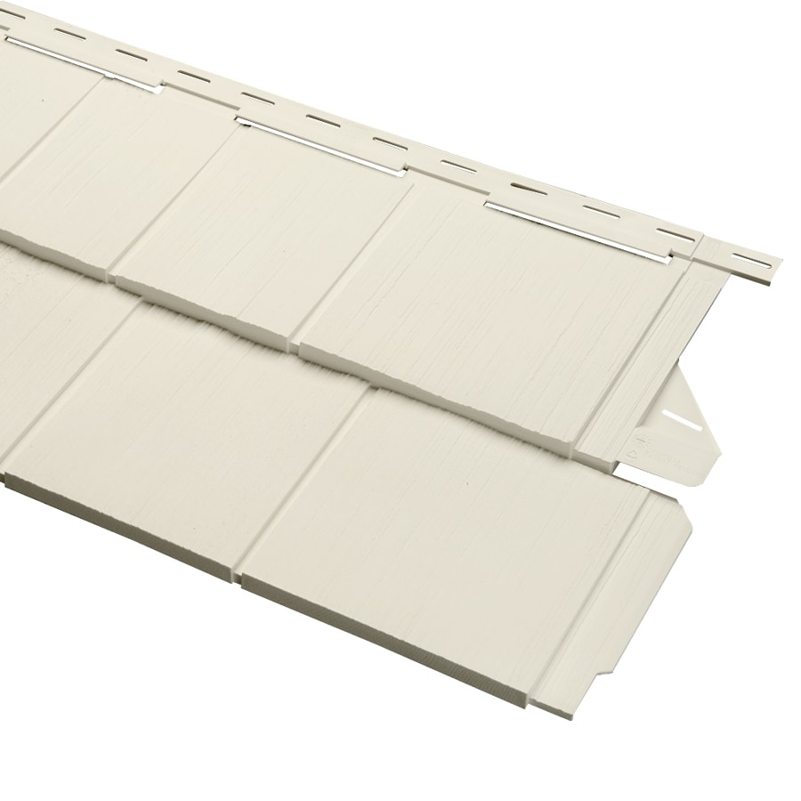 Durabuilt Shake Woodgrain Cream Vinyl Siding Panel 54.25-in x 15.5-in